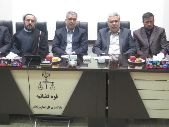 برای نخستین بار درکشور،جلسه حفظ و صیانت از منابع آب زیرزمینی استان به ریاست مدیرکل دادگستری زنجان برگزار شد.