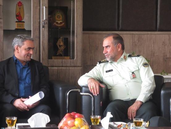 مدیرعامل شرکت آب منطقه ای زنجان با سردار آزادی فرمانده نیروی انتظامی استان دیدار کرد.