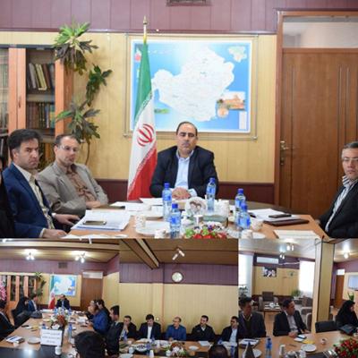 اولین جلسه شورای حفاظت از منابع آب شهرستان خدابنده در سال 97 برگزارشد.
